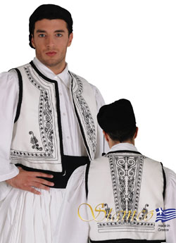Traditional White Vest